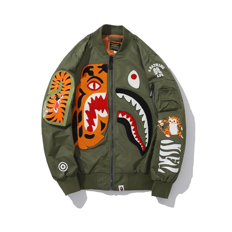 Bape Shark Jacket Windbreaker - Oily