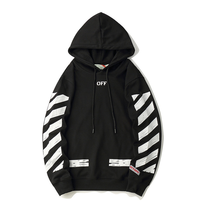 OFF WHITE hoodie street - Black