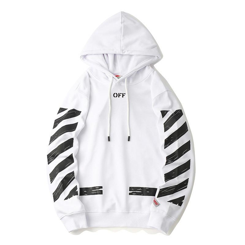 OFF WHITE hoodie street - White