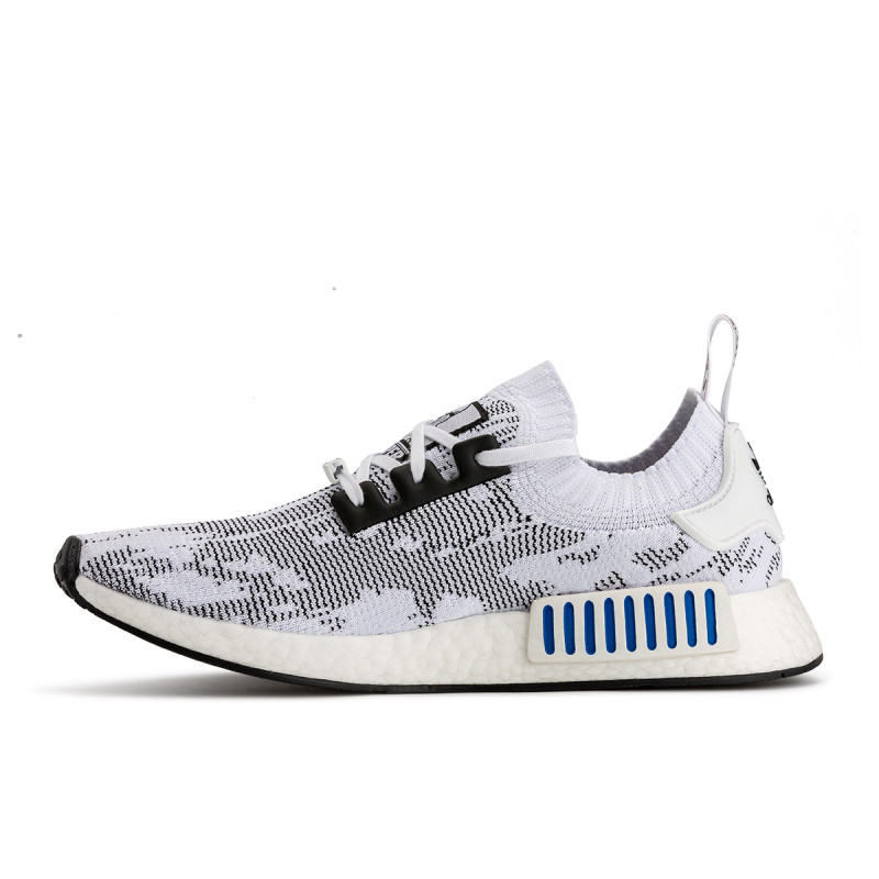 Adidas NMD R1 White And Black lines